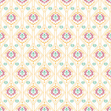Damask wallpaper background in classic style, pastel color, seamless pattern. Repeating vintage texture pattern. Vector art