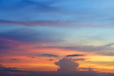 The beauty of colorful clouds in twilight background - 196630848