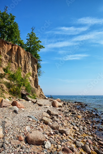 Gdynia Orlowo Cliff at Baltic Sea in Poland