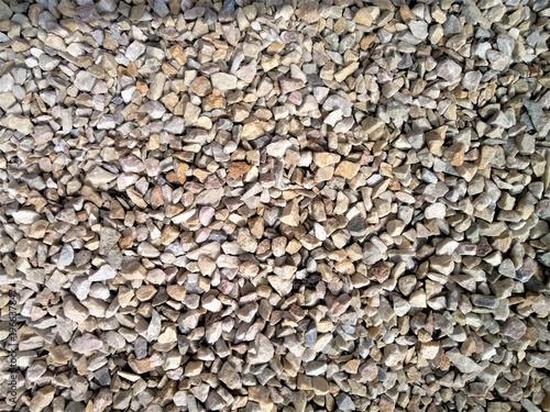 Poster Stenen texture gravel on the ground