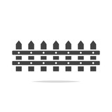 Fence icon vector isolated - 196639801