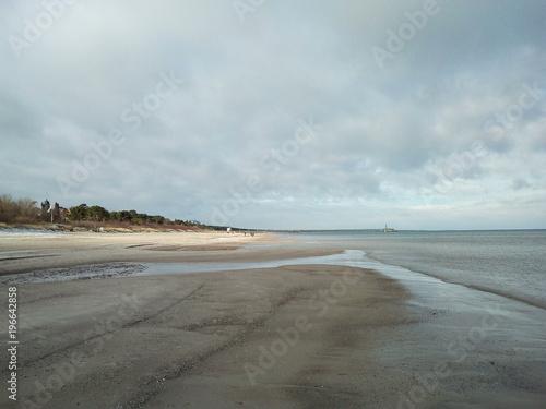 Niedrigwasser an der Ostseeküste