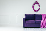 Violet and grey living room - 196645473