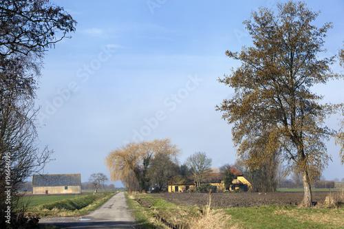 Foto op Canvas Cappuccino Dutch polder landscape in the Netherlands