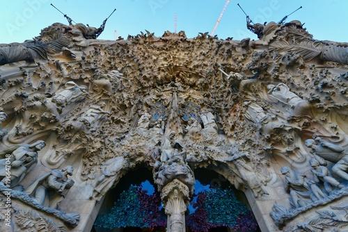 Fotobehang Cathedral Cove バルセロナの教会の景色