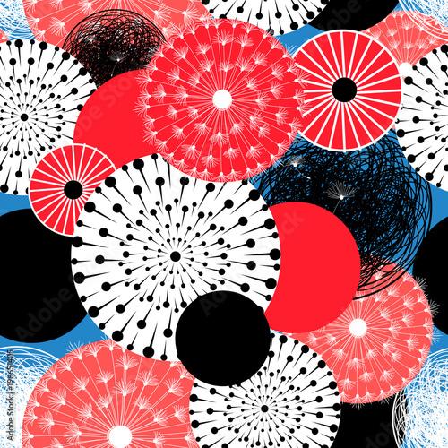 Fototapeta Vector abstract seamless pattern