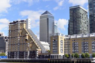 Finanzviertel, Bankenviertel, in Canary Wharf, London, Region London, Großbritanien