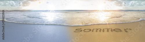 Winter -Sommer am Strand - 196655864
