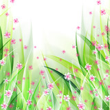 Floral romantic tender background