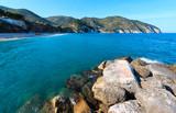 Summer sea beach Contrada Mattinatella, Gargano peninsula in Puglia, Italy - 196659439