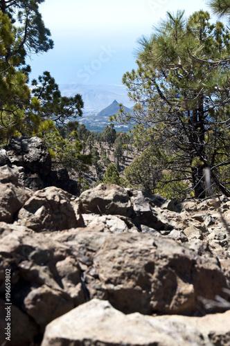 Fotobehang Zwart Droga do Wulkanu Teide, Boca Tauce