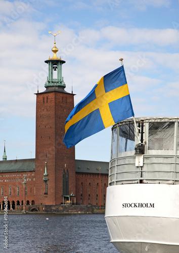Foto op Aluminium Stockholm City Hall in Stockholm. Sweden
