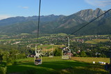Tatry, Kolejka górska z Butorowego Wierchu, widok na Giewont
