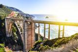 Bridge between rocks on the sea coast