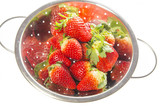 red strawberries isolated on a white background - 196665415