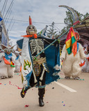 masked carnival dancer in Oruro Bolivia