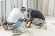 house construction african at work industry