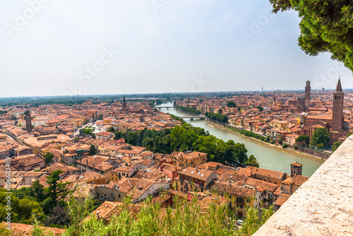 mata magnetyczna Picture of the small italian City Verona in Veneto