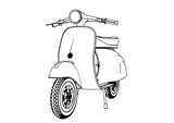 sketch moped vector