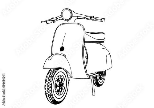 sketch moped vector