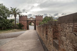 Castle ,ancient entrance and walls, Castelldefels,province Barcelona, Catalonia. - 196686882