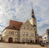 historic town hall of Gardelegen / historic town hall of Gardelegen in Germany