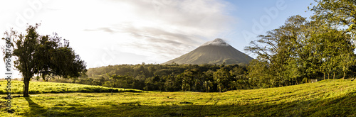 Fotobehang Natuur View of the Arenal volcano in Costa Rica at sunrise
