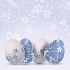 Decorative Easter egg background