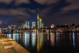 Skyline of Frankfurt, Germany at night