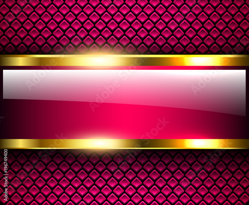 Poster Abstract background glossy and shiny purple metallic