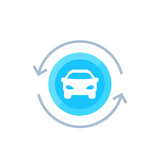 carsharing, carpooling service icon