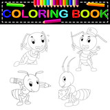 ant coloring book - 196757059