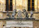 Griffin and Lion Well at Montepulciano, Italy