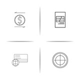 Banking, Finance And Money simple linear icon set.Simple outline icons - 196760671