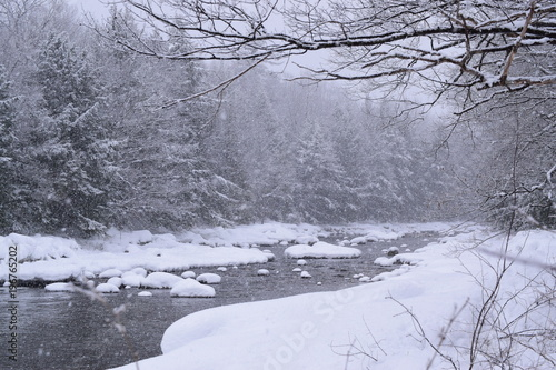 Fotobehang Lavendel Maine Snowy River