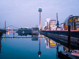 Panoramic View of the media harbor (Medienhafen) Dusseldorf , Germany - 196775634