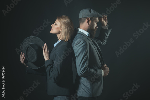 Couple of detectives or researchers, private investigators.