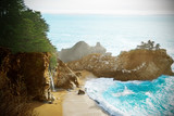 World famous McWay falls in Big Sur state park - 196779418