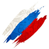 russian flag with soccer pattern - 196780066
