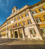 Montecitorio Palace on a sunny day