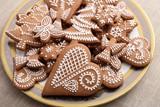 Gingerbread cookies. - 196782470