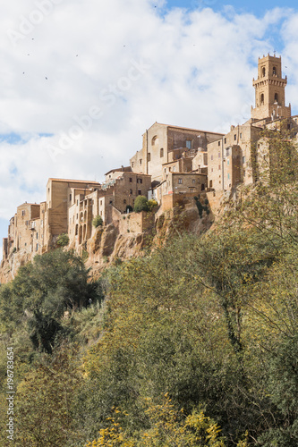 The town of Pitigliano in the province of Grosseto.