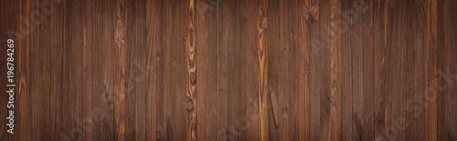 Panorama od brown drewnianych desek, drewno stołowy tło