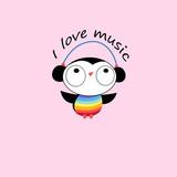 Vector funny cartoon owl in headphones