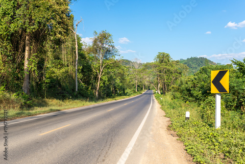 Aluminium Thailand Road through the national park Khao Sok in the south of Thailand