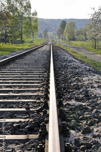 Foto op Canvas Spoorlijn eisenbahngleise