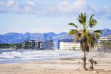 beautiful view of the beach of Spain Salou