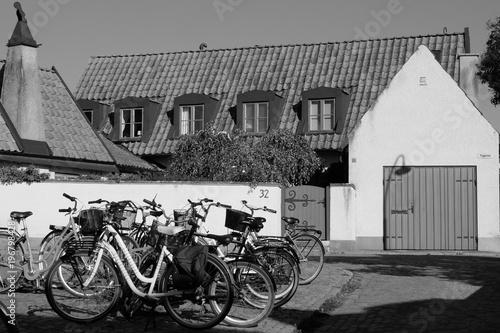 In de dag Fiets Bikes in medival town