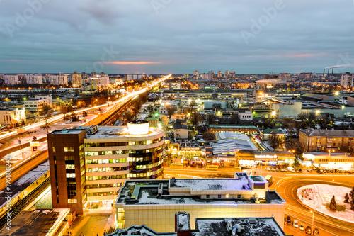Foto op Plexiglas Kiev Kiev (Ukraine) by Night