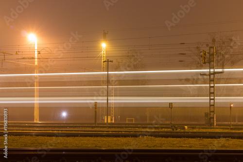 Aluminium Nacht snelweg Zug